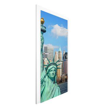 Carta da parati per porte - New York Skyline