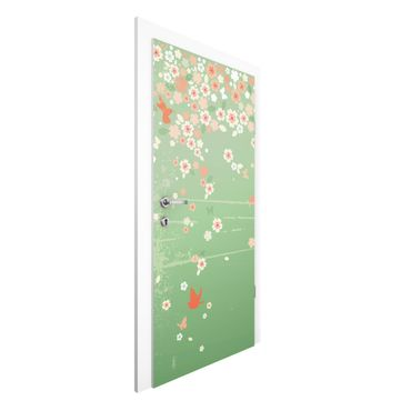 Carta da parati per porte - no.EK236 Spring Background