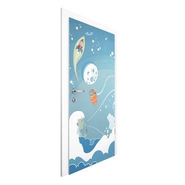 Carta da parati per porte - No.MW16 Colorful Space bustle