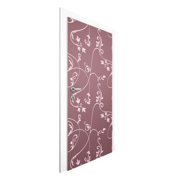 Carta da parati per porte - No.TA104 Ivy old rose-light pink