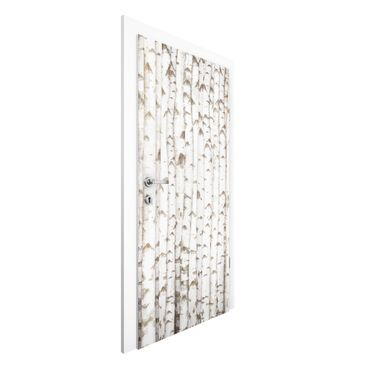 Carta da parati per porte - No.YK15 Birch wall