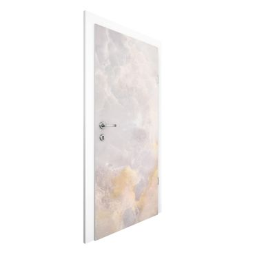 Carta da parati per porte - Onyx marble gray