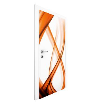 Carta da parati per porte - Orange Element