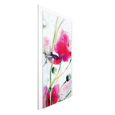 Carta da parati per porte - Painted Poppies