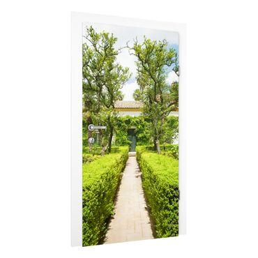 Carta da parati per porte - palace garden in Seville