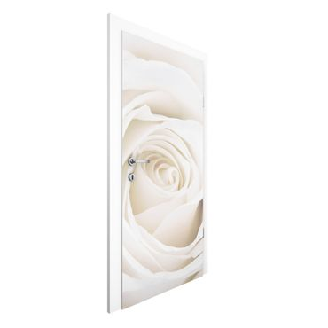 Carta da parati per porte - Pretty White Rose