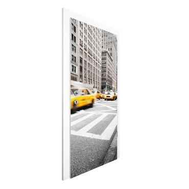 Carta da parati per porte - Fast-paced New York