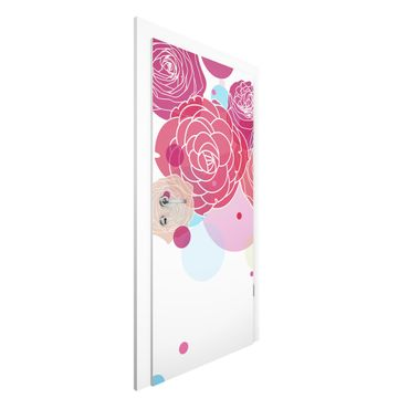 Carta da parati per porte - Roses and Bubbles