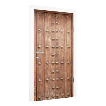 Carta da parati per porte - Rustic Spanish wooden door