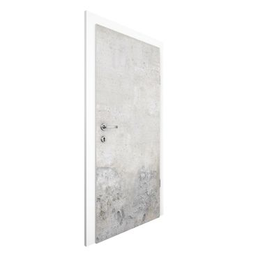 Carta da parati per porte - Concrete Wallpaper - Shabby Plain Concrete Wall