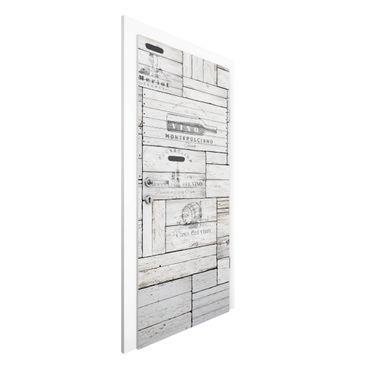 Carta da parati per porte - Shabby Wooden Boxes