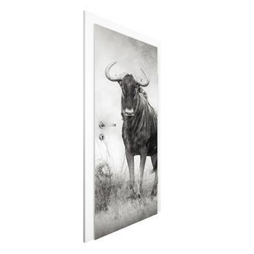 Carta da parati per porte - Staring Wildebeest