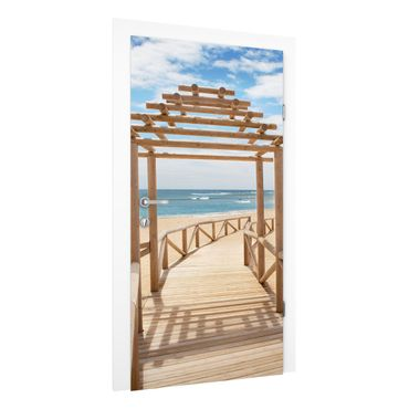 Carta da parati per porte - Beach path to the sea in Andalusia
