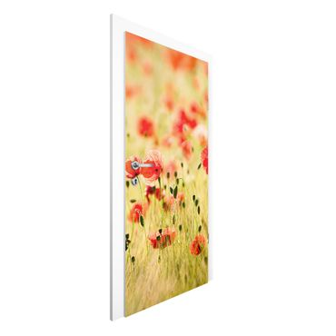 Carta da parati per porte - Summer Poppies