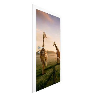 Carta da parati per porte - Surreal Giraffes