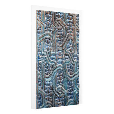 Carta da parati per porte - Door with Moroccan carving