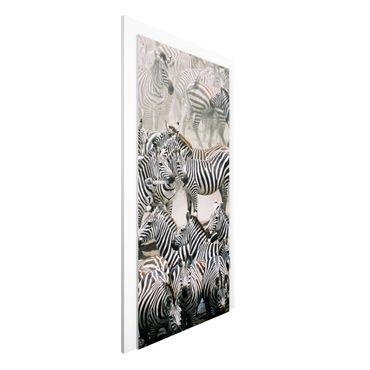 Carta da parati per porte - Zebra herd