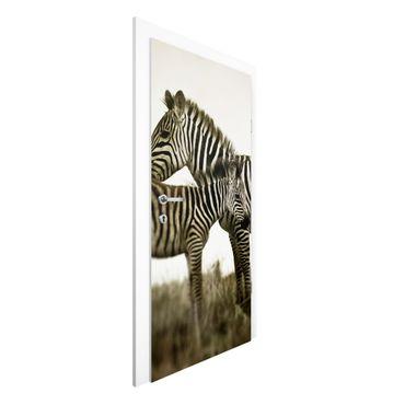 Carta da parati per porte - Zebra Pair
