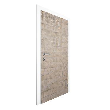 Carta da parati per porte - Concrete Wallpaper - Concrete Block Wall Design