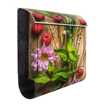 Cassetta postale Flower raspberries mint 39x46x13cm