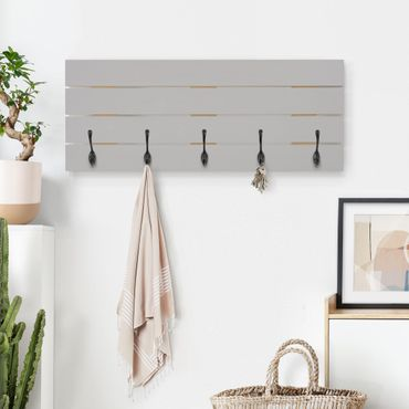 Appendiabiti in legno - grigio agata