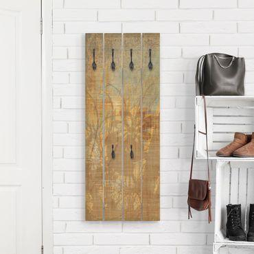 Appendiabiti in legno - Fiori sotto Struttura ornamento
