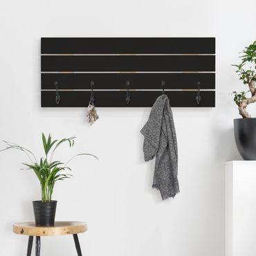 Appendiabiti in legno - colore nero