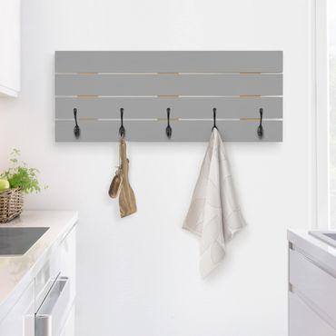 Appendiabiti in legno - Colore Cool Grey