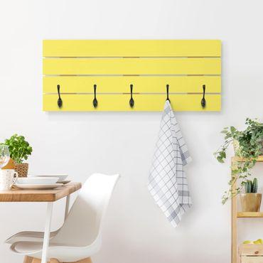 Appendiabiti in legno - Colore giallo limone