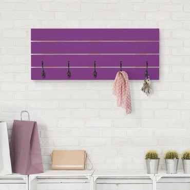 Appendiabiti in legno - Il colore viola