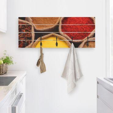 Appendiabiti in legno - Spezie colorate