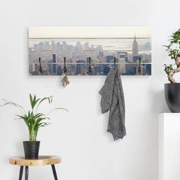Appendiabiti in legno - Mattina In New York