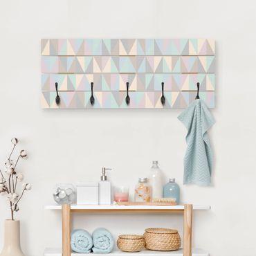 Appendiabiti in legno - Triangoli in colori pastello