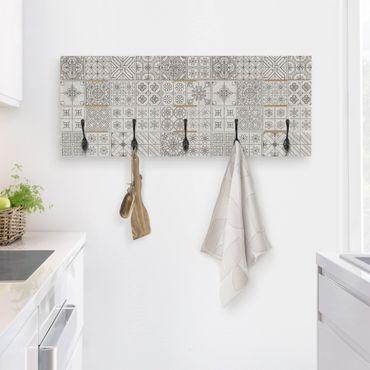 Appendiabiti in legno - Tile Pattern Coimbra grigio