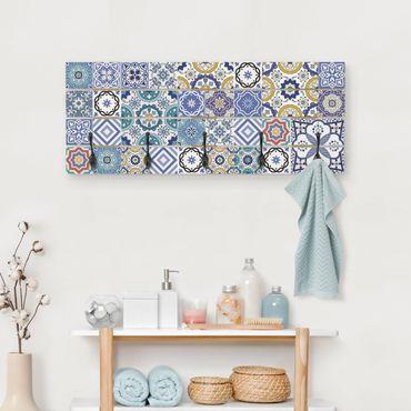 Appendiabiti in legno - Specchio Tiles - Elaborare tegole portoghesi
