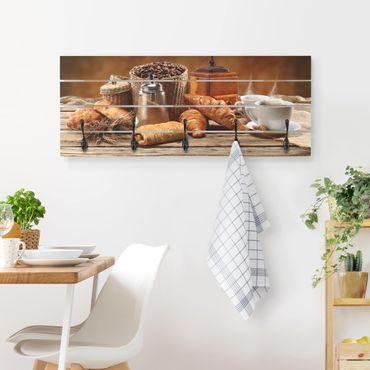 Appendiabiti in legno - Breakfast Table - Ganci neri - Orizzontale
