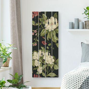 Appendiabiti in legno - Garden Flowers On I Black