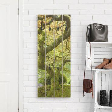 Appendiabiti in legno - Green Japanese Garden - Ganci neri - Verticale