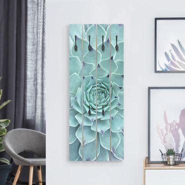 Appendiabiti in legno - Cactus Agave - Ganci neri - Verticale
