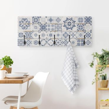 Appendiabiti in legno - Blu Ceramic Tiles Agadir
