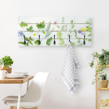 Appendiabiti in legno - Erbe e fiori