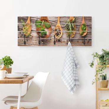 Appendiabiti in legno - Herbs And Spices - Ganci neri - Orizzontale