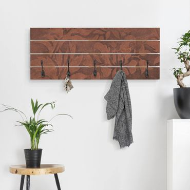 Appendiabiti in legno - Struttura in pelle