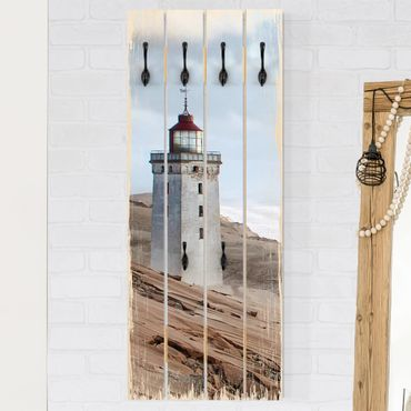 Appendiabiti in legno - Lighthouse In Denmark - Ganci neri - Verticale