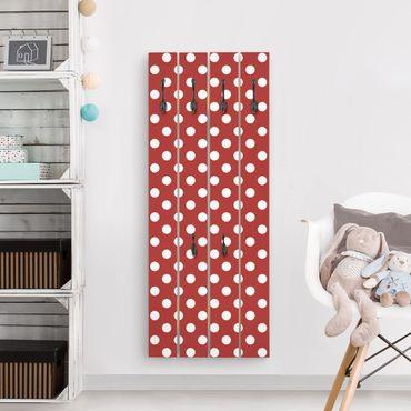 Appendiabiti in legno - No.DS92 Point design Girly Red
