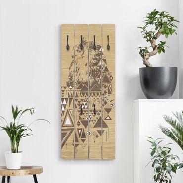Appendiabiti in legno - No.MW17 Owl indiana