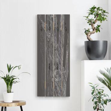 Appendiabiti in legno - No.MW20 Living Forest Grigio Antracite