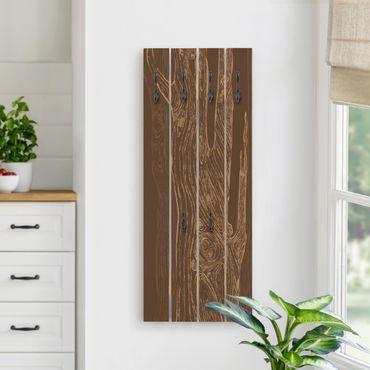 Appendiabiti in legno - No.MW20 Living Forest Braun-Sand