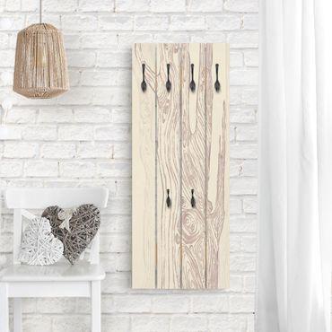 Appendiabiti in legno - No.MW20 Living Forest ocra rossa Brown