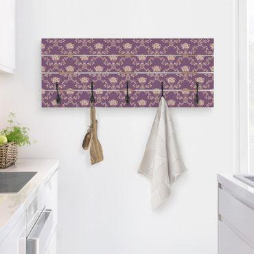Appendiabiti in legno - Disposizione No.RS11 cestino del fiore viola